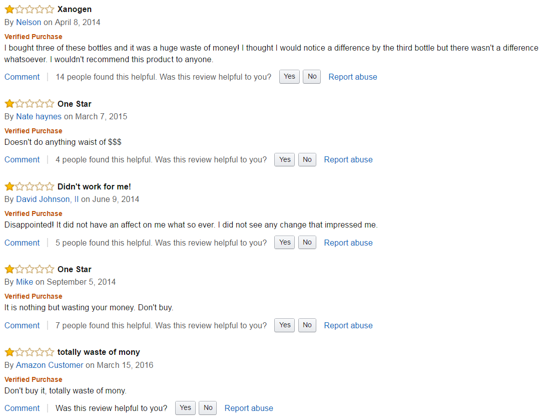 xanogen amazon reviews