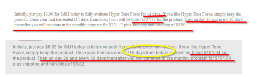 Hyper Tone Force and Hyper Tone Excel Terms Image
